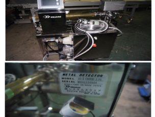 ㈱システムスクエア パイプ搬送型金属検出機 SDⅡ100RW-2.0S 中古品 AR-1477