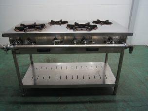 ガスコンロ 4口ガステーブル NT1222 タニコー㈱ 中古品 AR-3641