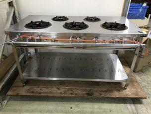 ガスコンロ ガステーブル 5口 MGT-157DS ㈱マルゼン 中古品 AR-3850